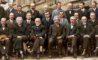 Nobelpreisträger Treffen 1927 Einstein Plank Curie